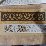 Cutting a new Fretwork Gallery for a Longcase Clock using old surface timber.
